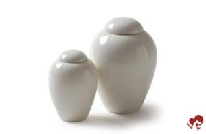 Urna de porcelana serenity blanca